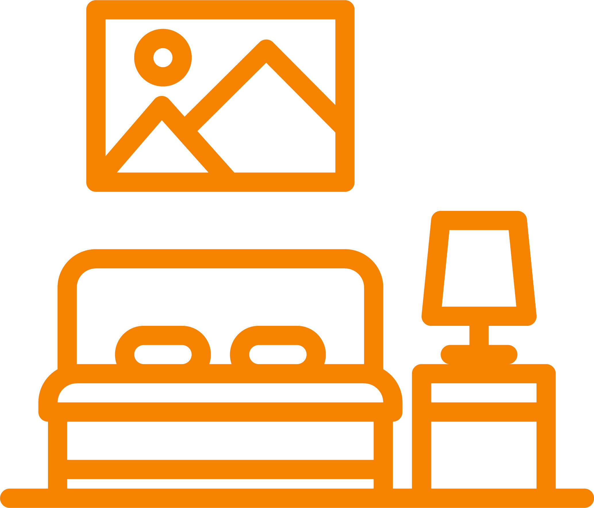 bed and dresser icon