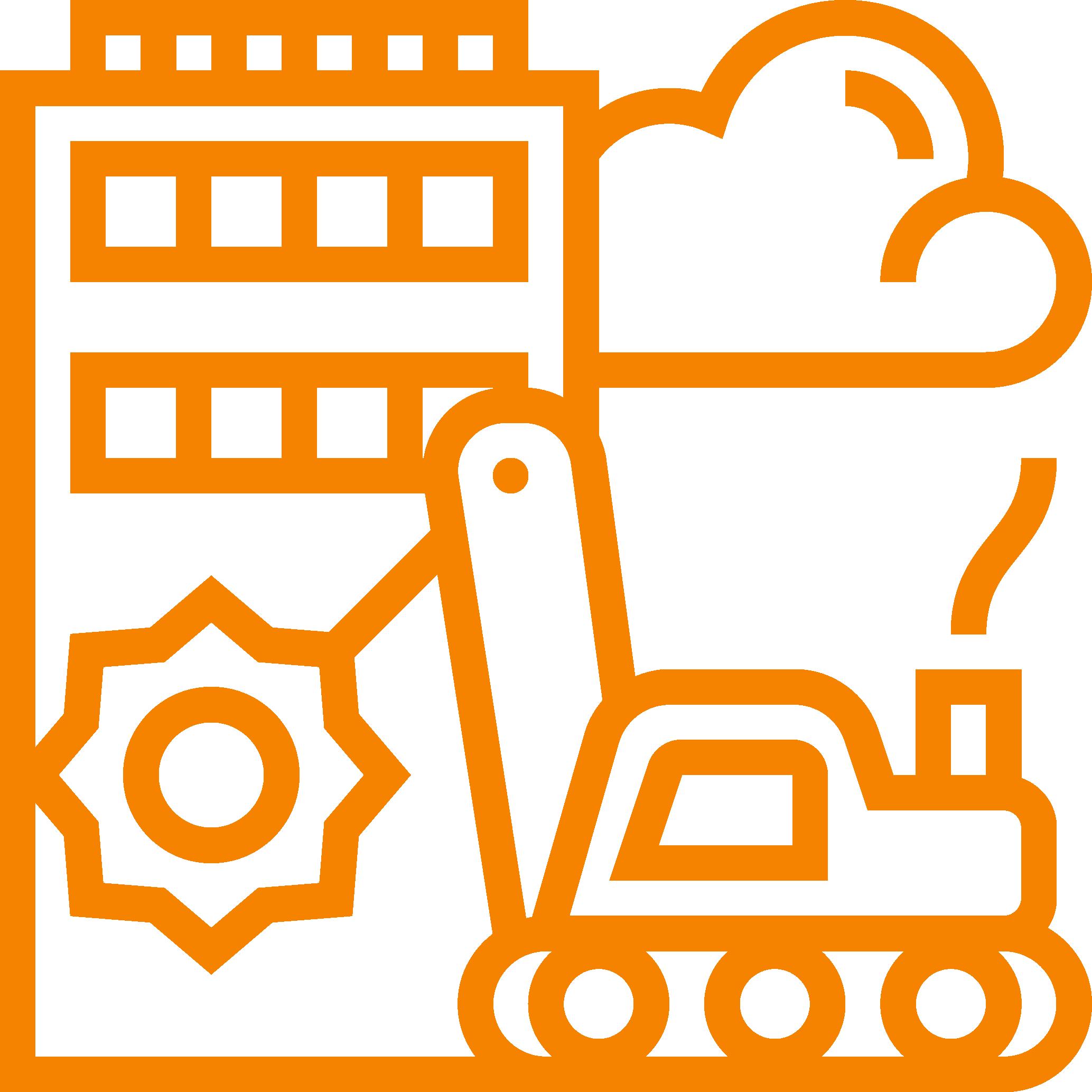 industry icon orange