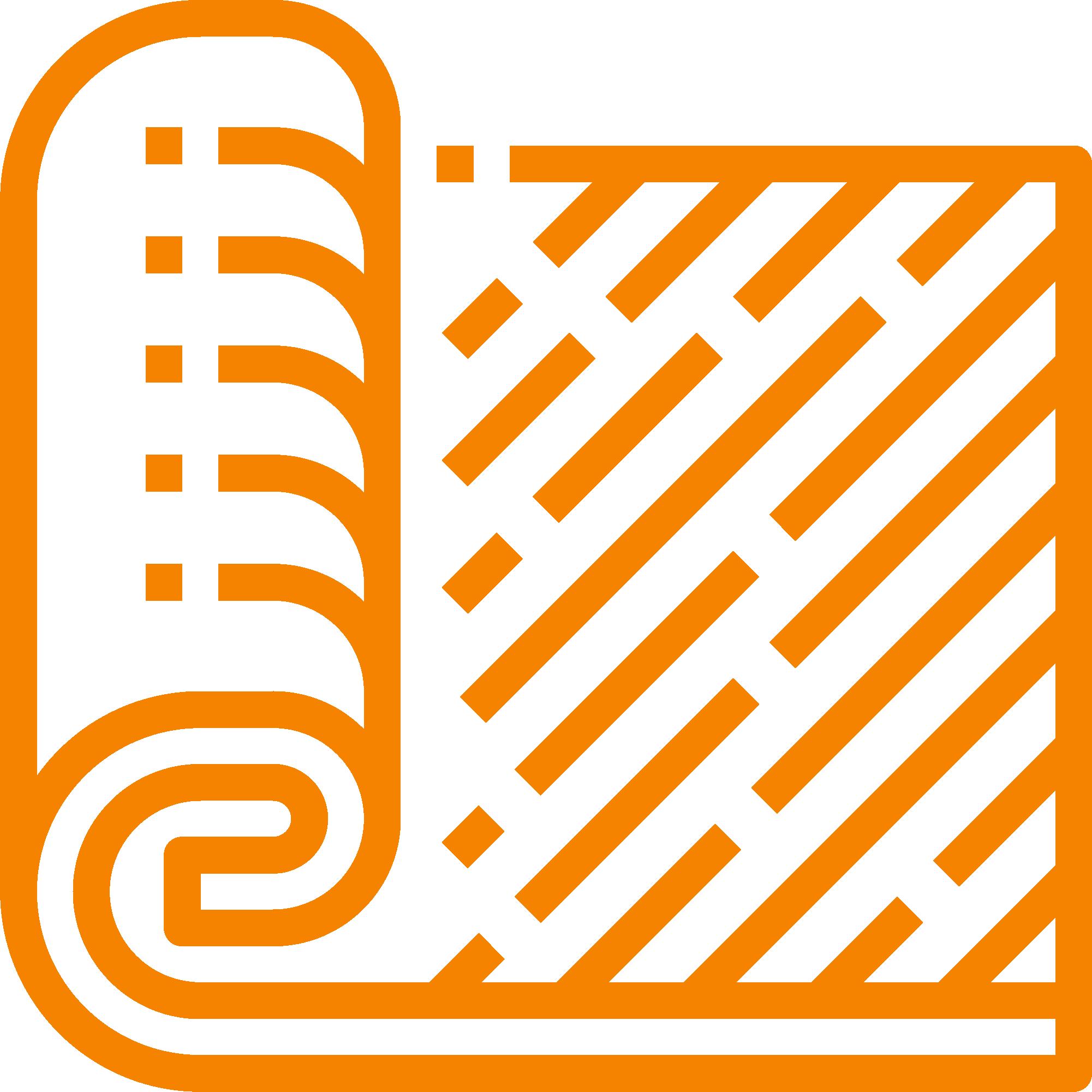 carpet roll orange icon